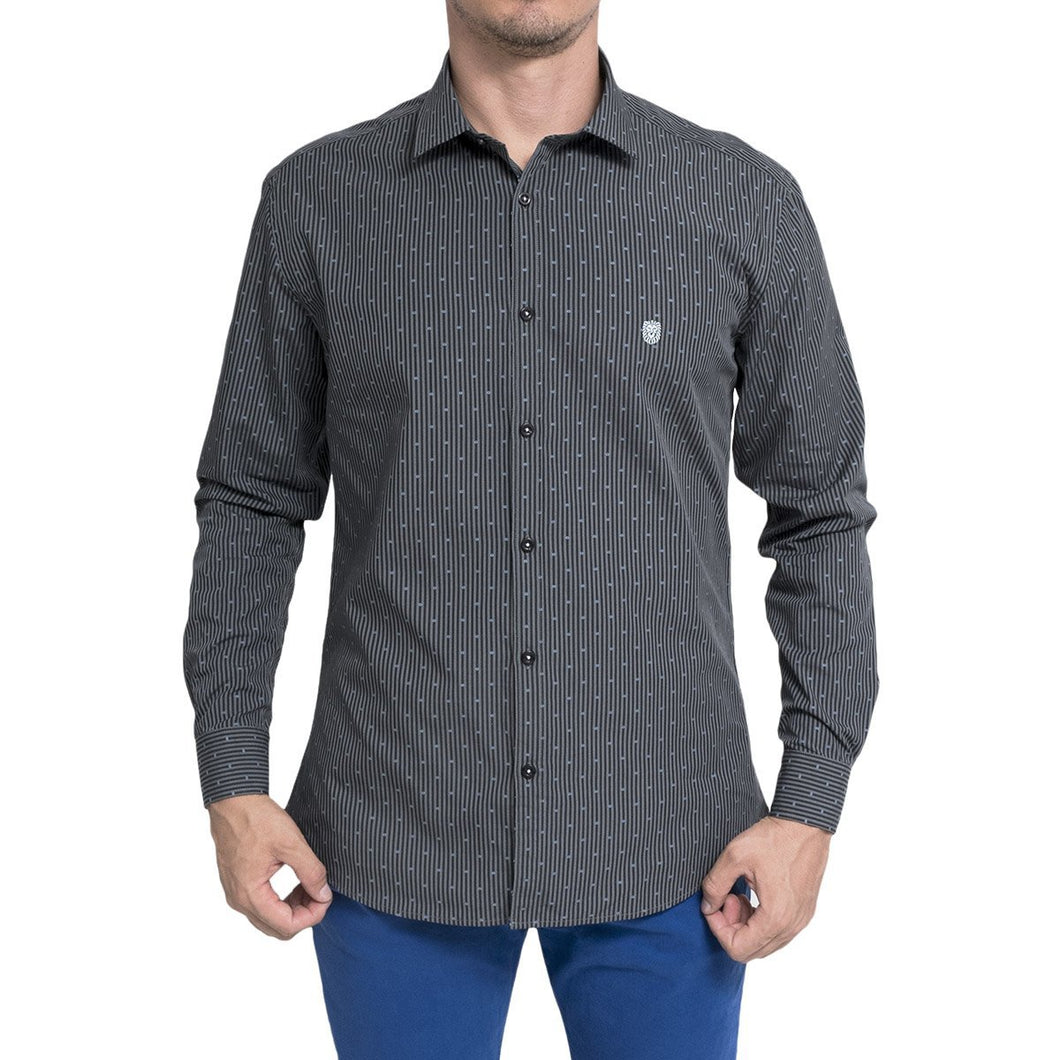 CAMISA PRESTAINED GRIS