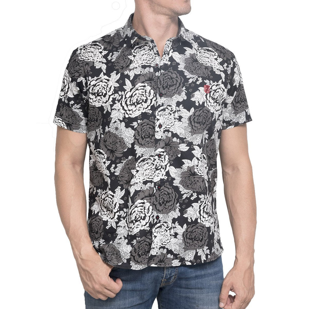 CAMISA TROPICAL NEGRA