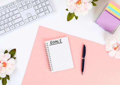 Goal-setting notebook (cover image)