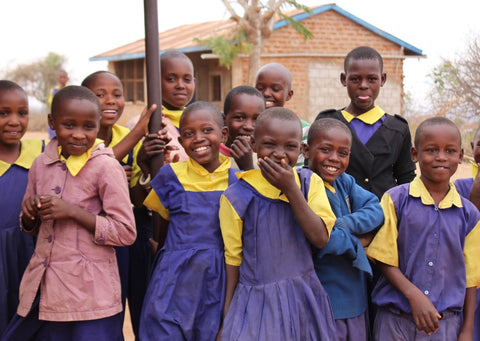 School Girls in Uganda supported by Just a Drop