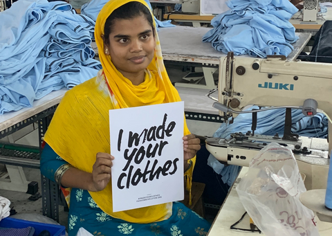 """""""I made your clothes"""" - female garment worker at Y.O.U Underwear's factory in India"""