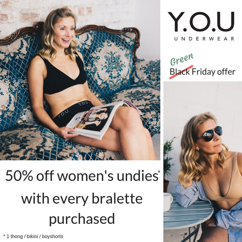 Green Friday bralette offer