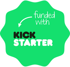 Funded with Kickstarter logo