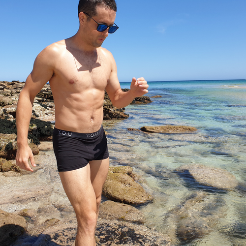 Men's organic cotton trunks in black