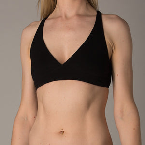 Women's organic cotton bralette in black