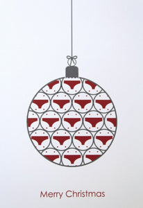 Christmas cards - bauble design - pack of 10.