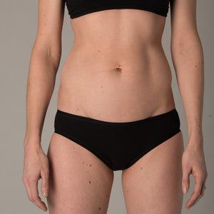 Women's organic cotton low-rise bikini bottoms - pack of 5