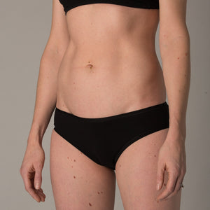 Women's black bikini - side view