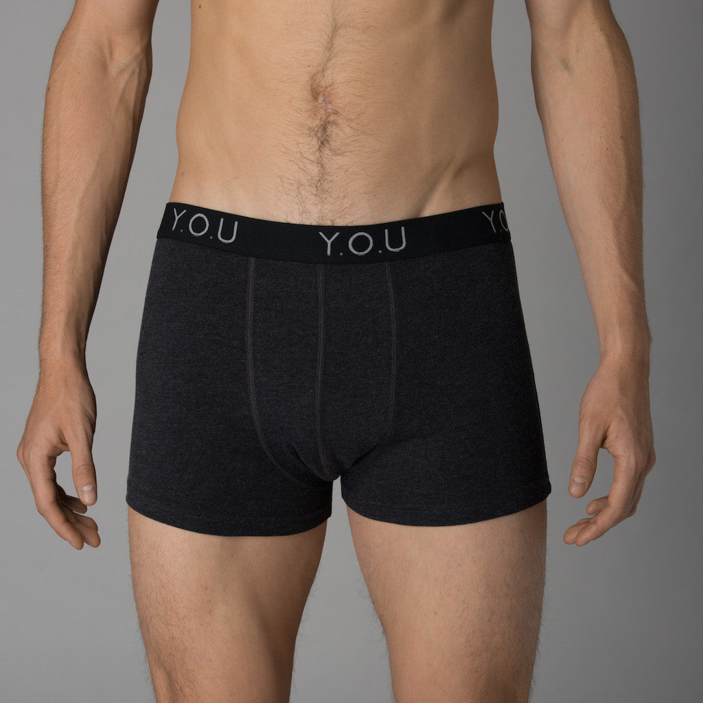 Men's charcoal grey trunks - front view
