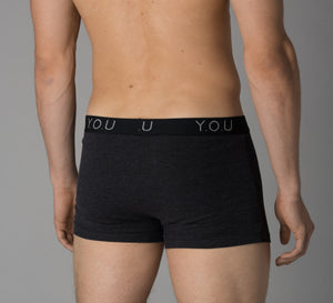 Men's charcoal grey trunks - back view