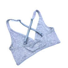 Girls' organic cotton bralettes -  3 pack of white, grey & light blue