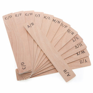 Wooden Alphabetical Record Dividers (Small)