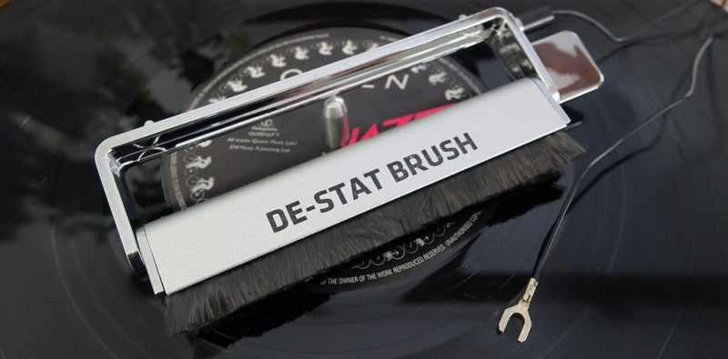 De-Stat Anti-static Record Cleaning Brush (With Grounding Cable)