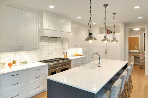 White Quartz Countertops Achieve The Look Of Luxury Hanstone Quartz