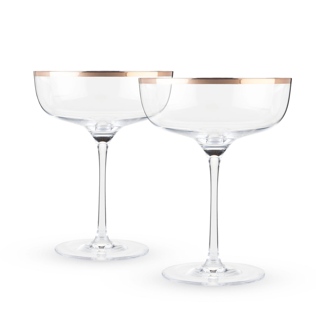 Old Kentucky Home - Copper Rim Crystal Coupe Set (Set of 2)