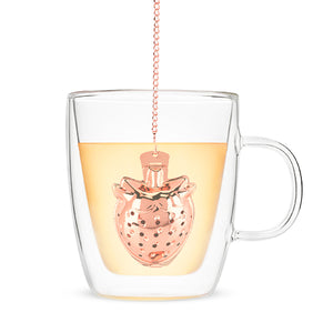 Rose Gold Strawberry Tea Infuser