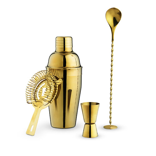 Crown Gold Barware Set