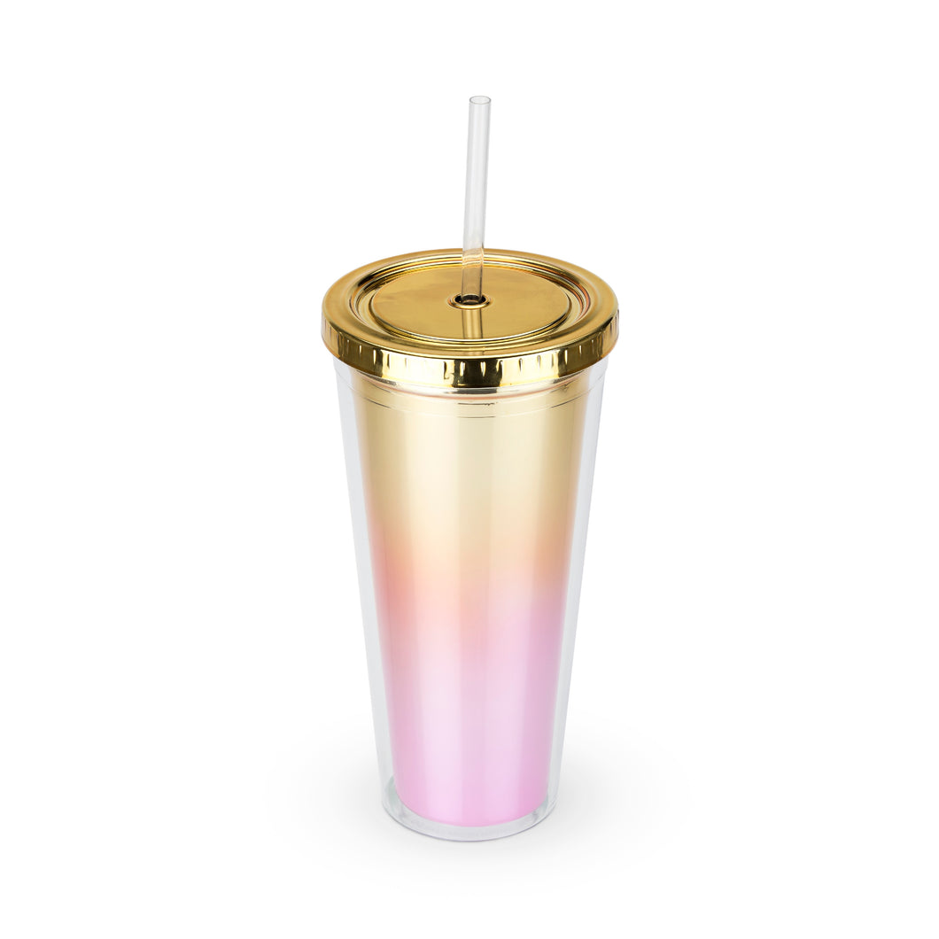 Bougainvillea - Metallic Ombre Tumbler (Purple)