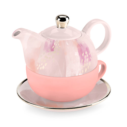 Addison - Tea for One Set (Pink Abstract)