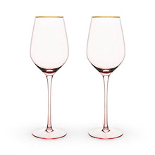 Garden Party: Rose Crystal White Wine Glass Set