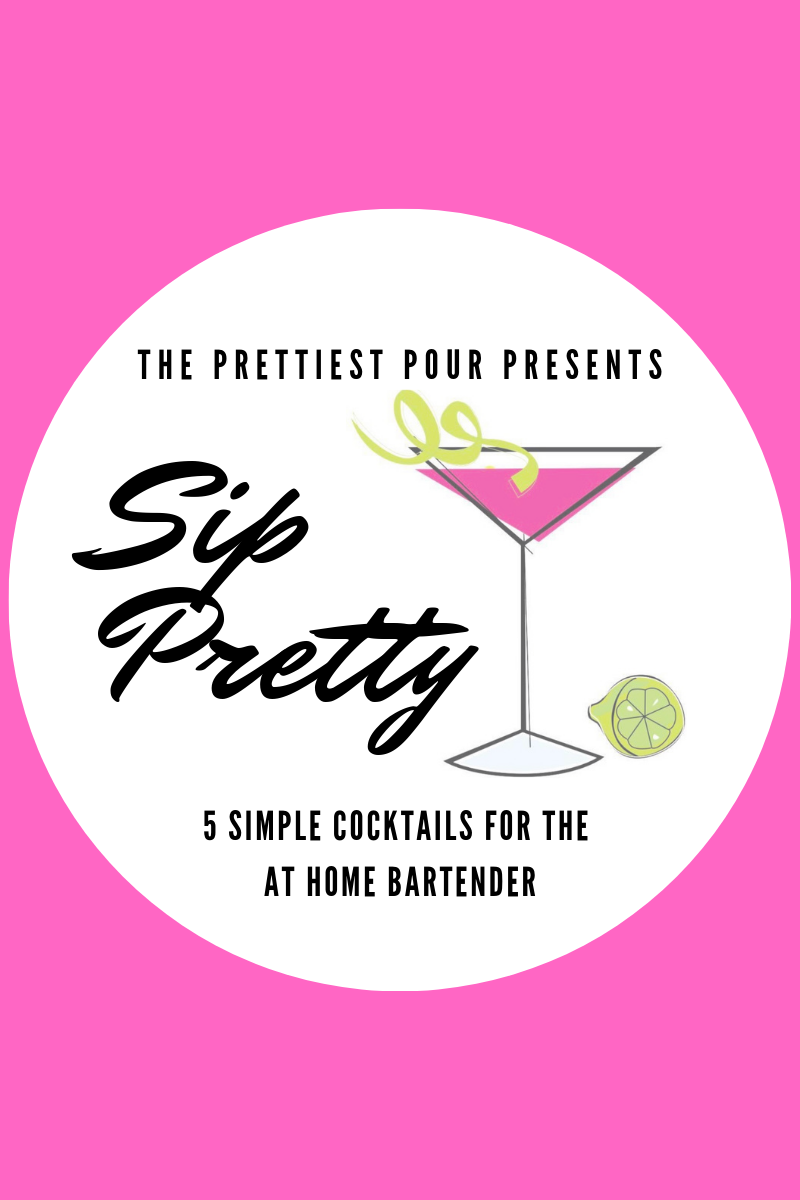 Sip Pretty: 5 Simple Cocktails for the Home Bartender