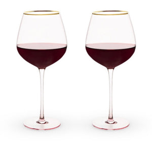 Garden Party: Rose Crystal Red Wine Glass Set