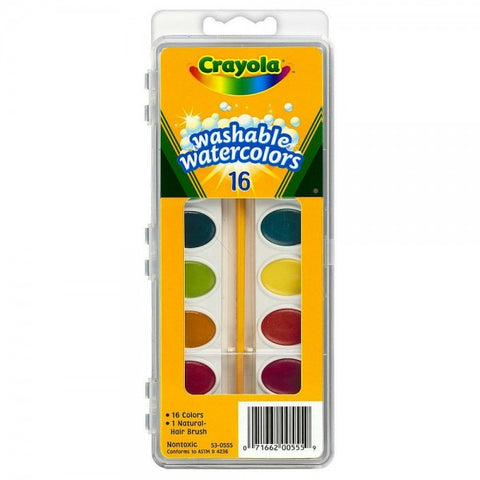 CRAYOLA 16 CT WASHABLE WATER COLORS