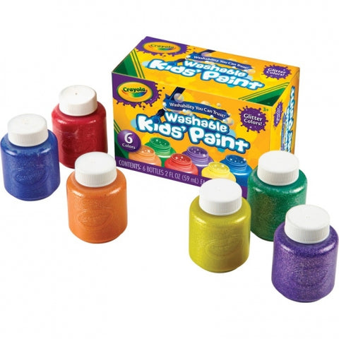 Crayola 6-Count Washable Glitter Paint