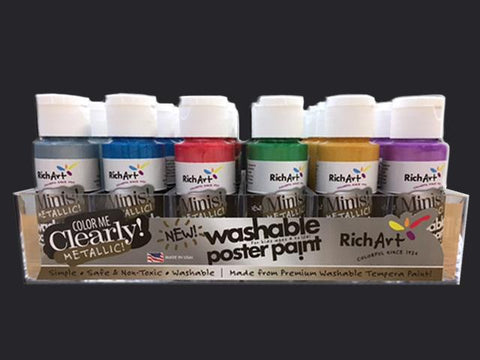 Richart 24-Count Assorted Metallic Paints in tray