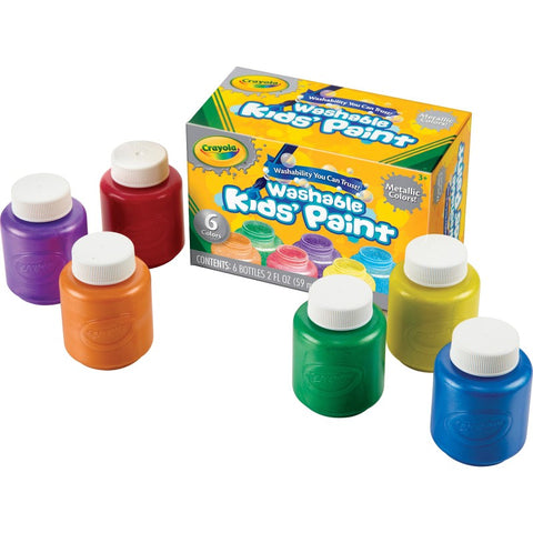 Crayola 6-Count Washable Metallic Paint