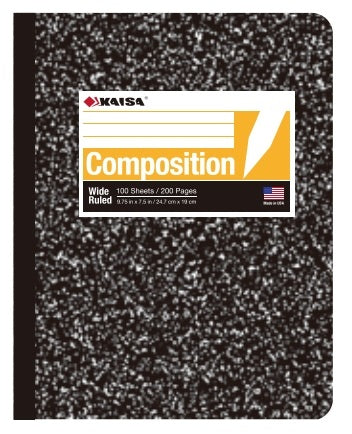 100-Sheet Wide-Ruled Marble Composition Book