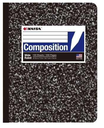 100-Sheet College-Ruled Marble Composition Book
