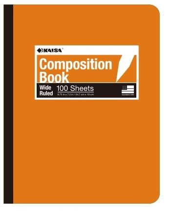 100-Sheet College-Ruled Poly Cover Composition Book