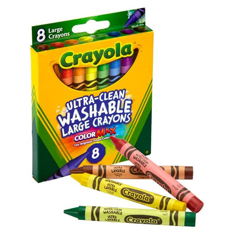 Crayola 8-Count Large Ultra-Clean Washable Crayons
