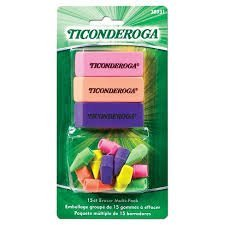 Assorted Eraser Pack - 15-Count Eraser Toppers / 3 Wedge