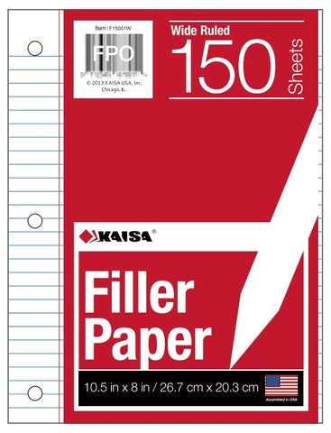 150-Count Wide-Ruled Filler Paper