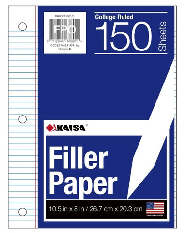 150-Count College Ruled Filler Paper