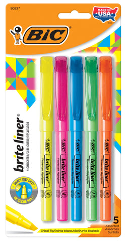 5-Count Brite Liner Assorted Color Highlighters