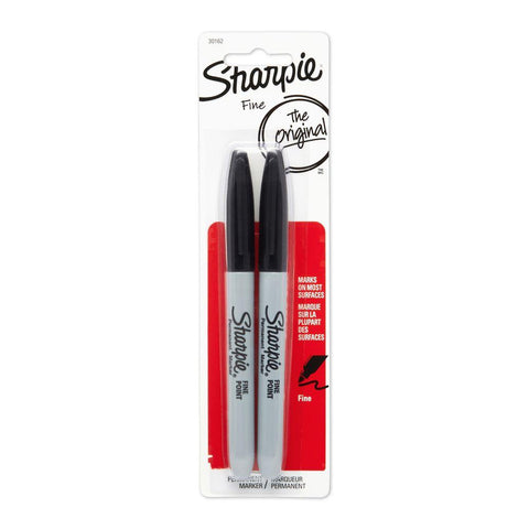 Sharpie 2-Count Fine Point Black Permanent Markers