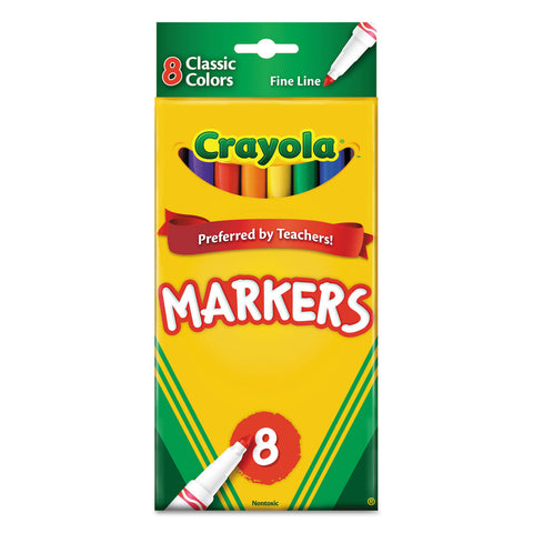 CRAYOLA 8CT THIN CLASSIC MARKERS
