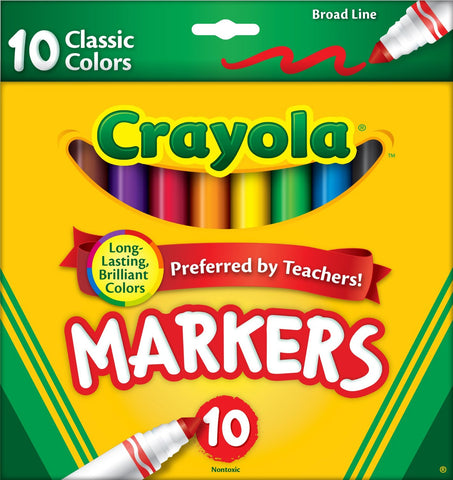 Crayola 10-Count Classic Color Markers