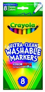 Crayola 8-Count Washable Fine Point Markers - Classic Colors