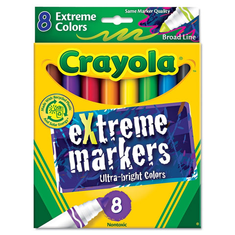Crayola 8-Count Extreme Ultra Bright Markers