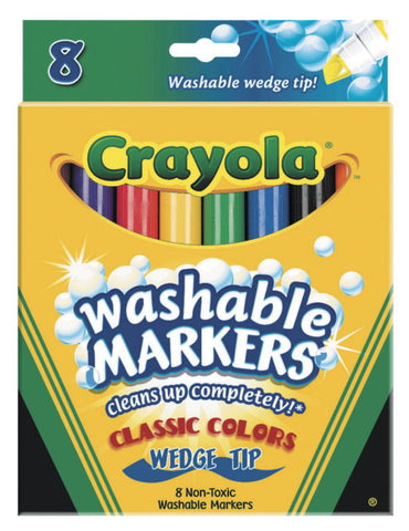 Crayola 8-Count Washable Wedge Tip Markers