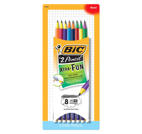 Bic 8-Count Xtra Fun Life Pencils, Assorted Color Barrels