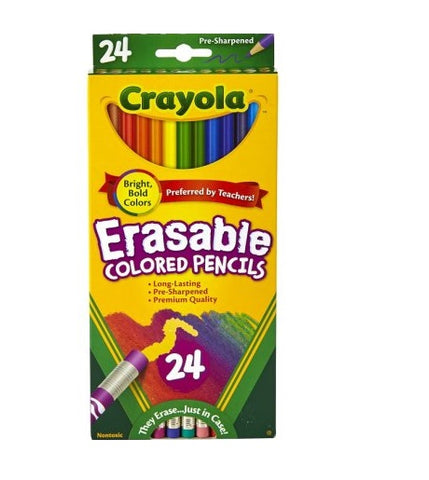 Crayola 24-Count Erasable Colored Pencils