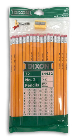 32-Count Classic #2 Pencils with Bonus Sharpener