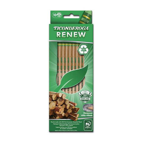 "10-Count ""Renew""Recycled #2 Pencils"