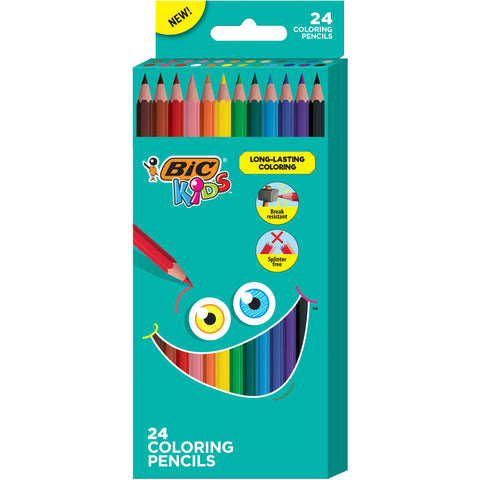 24-Count Bic Kids' Stronger Lead Colored Pencils