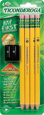 Ticonderoga 4-Count Beginner Pencils with Sharpener